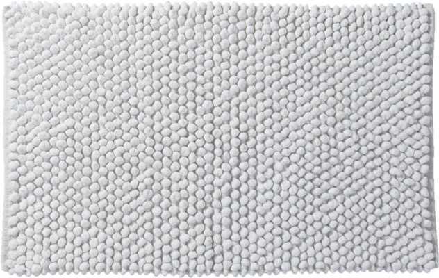 Cirrus white bath mat - CB2
