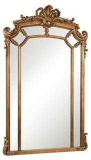 Ingrid Oversize Mirror, Gold - One Kings Lane