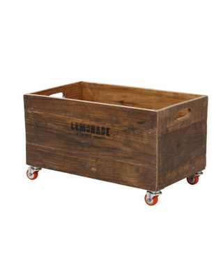 Rolling Storage Crates - Large - Domino