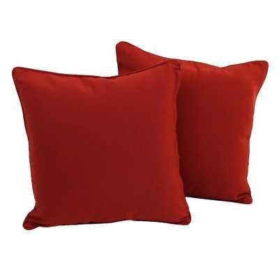 "Weymouth Solid Throw Pillow - Red - 18"" H x 18"" W - no insert - Wayfair"