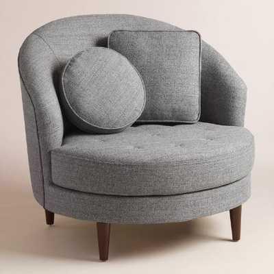 Gray Round Seren Chair and a Half - World Market/Cost Plus