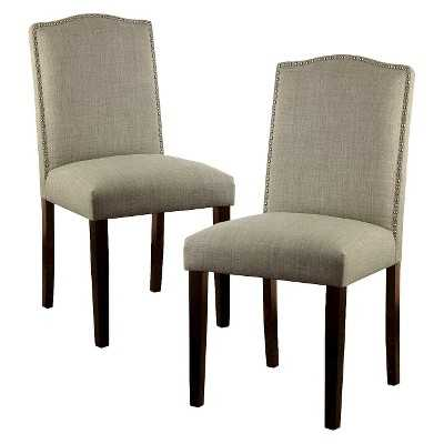 """Thresholdâ""""¢ Camelot Dining Chair with Nailhead Trim (Set of 2) - Target"""