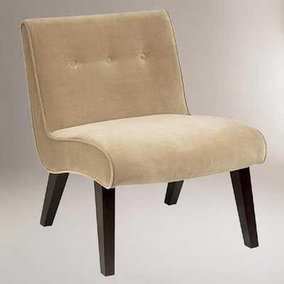Coffee Velvet Pasadena Chair - World Market/Cost Plus