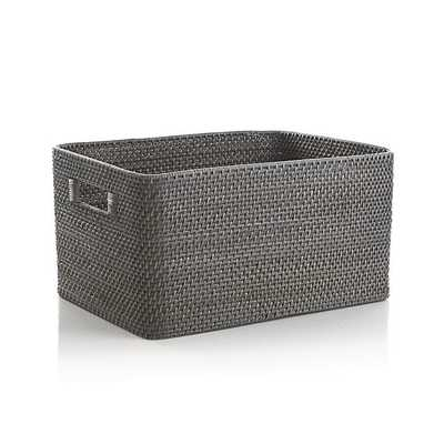 Sedona Large Grey Tote - Crate and Barrel