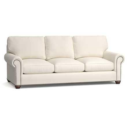 Webster Upholstered Grand Sofa - Twill, Cream - Pottery Barn