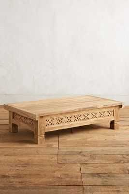 Handcarved Fretwork Coffee Table - Anthropologie