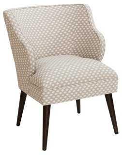 Kira Accent Chair, Flax/White - One Kings Lane