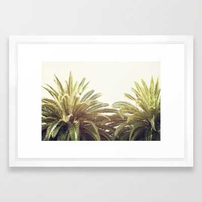 "Sunlit Palms - 21"" x 15"" - Framed - Society6"