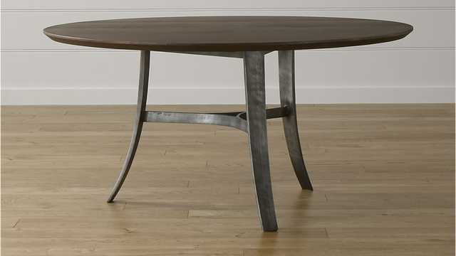 "Tahoe 60"" Round Dining Table - Crate and Barrel"