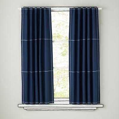 Canvas Curtains (Blue) - Land of Nod