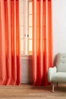 "Linen Grommet Curtain-84"" x 50"" - Anthropologie"