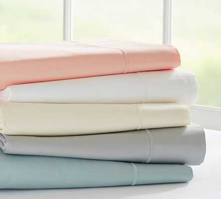 PB Organic 350-Thread-Count Sateen Sheet Set - Pottery Barn