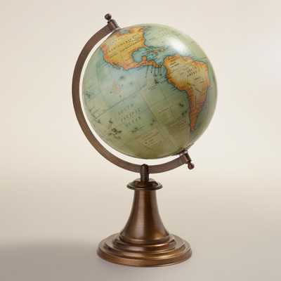 Antique Green Globe with Brass Stand - World Market/Cost Plus