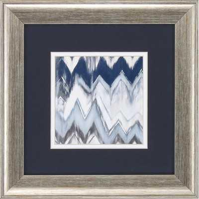 """Chevron Pattern 2 Piece Graphic Art Set - 13"""" H x 13"""" W x 1"""" D - Silver Frame - Wayfair"""