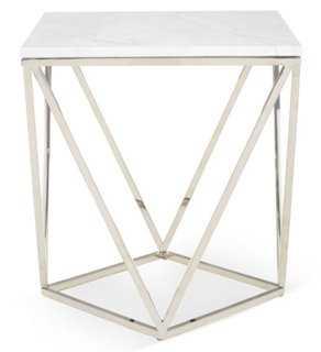 Jasmine Marble Side Table - One Kings Lane