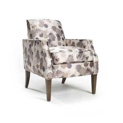 Olson Pewter Splatter Pattern Chair - Overstock