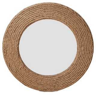 Quincy Rope Wall Mirror, Natural - One Kings Lane