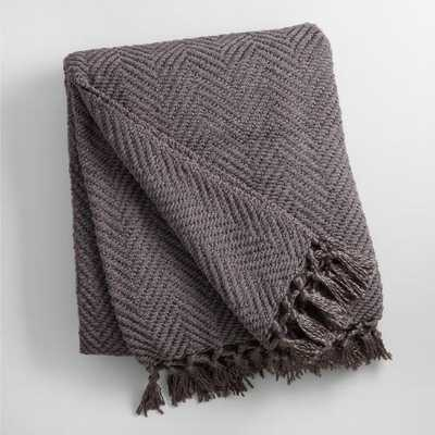 Charcoal Chunky Chenille Throw - World Market/Cost Plus