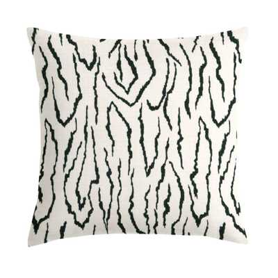 "Ivory & Black Zebra Animal Print Custom Throw Pillow-20"" L X 20"" W-Insert Sold Separately - Domino"