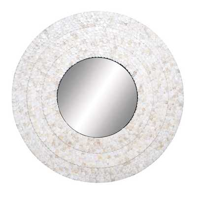 Pearl Round Mirror - Overstock