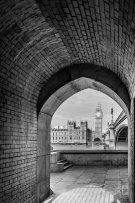 Big ben and bridge - unframed - Society6