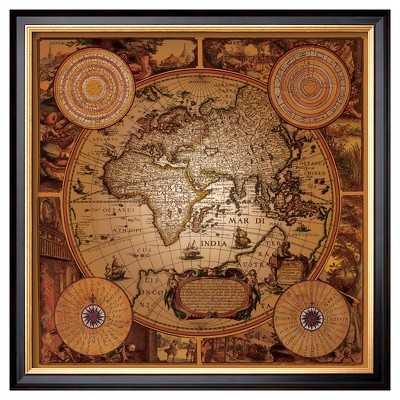 "Antique Map, Cartographica I - Framed Print-22"" - Target"