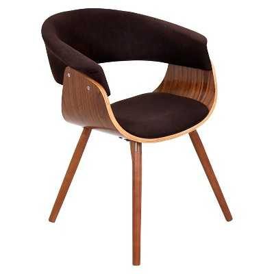 Lumisource Vintage Mod Dining Chair - Brown - Target