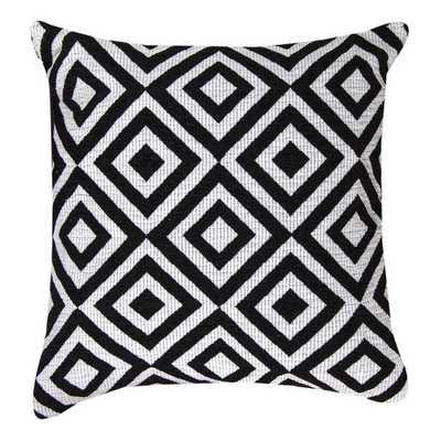 Black and White Diamond Throw Pillows - Overstock
