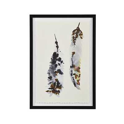 """Feathers II Print - 18.5""""Wx26.5""""H - Framed - Crate and Barrel"""