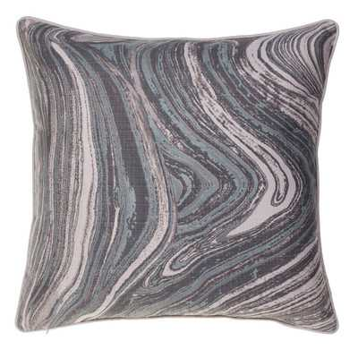 "Watercolor Marble Throw Pillow- 24"" H x 24"" W-Insert included - Wayfair"