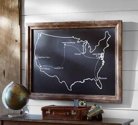 Chalkboard USA Wall Art - Pottery Barn