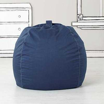 "40"" Bean Bag (Dk. Blue) (Includes Cover and Insert) - Land of Nod"