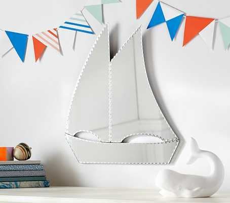 Sailboat Shaped Mirror - Pottery Barn Kids