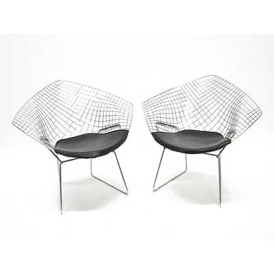 Wire Diamond Chairs (Set of 2) - Overstock