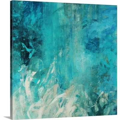Aqua Falls by Jodi Maas Wall Art on Gallery Wrapped Canvas - Wayfair