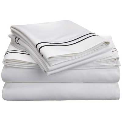 Luxor Treasures Two-tone Embroidered Sheet Set - Overstock