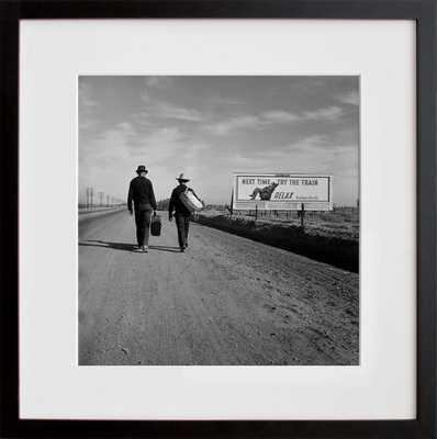 "Toward Los Angeles, California - 11""x11"" - Framed - 20x200.com"