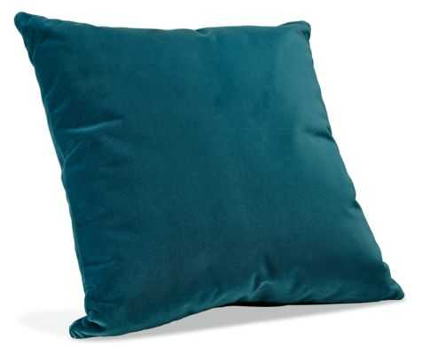 "Velvet Pillows, Peacock, 21"" sq., Feather/Down insert - Room & Board"