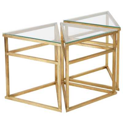 Safavieh Couture Collection Caliope Gold Leaf Bunching Coffee Table - Overstock