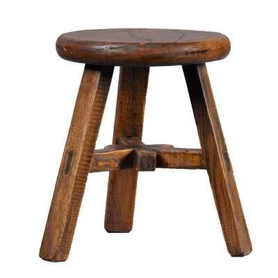 Vintage Round Top Stoolby Antique Revival - Wayfair
