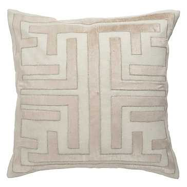 Labyrinth Pillow - 22x22 - Feather Down Insert - Z Gallerie