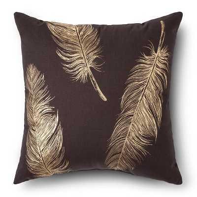 "Metallic Feather Throw Pillow 18""Sq, Polyester fill - Target"