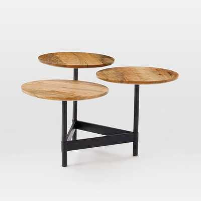 Tiered Circles Coffee Table - Raw Mango - West Elm