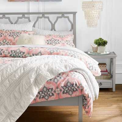 Geo Garden Duvet Cover - Twin, Peach - Pottery Barn Teen