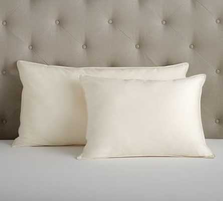 PB Organic 350-Thread-Count Sateen Natural Pillow - King - Polyester fill - Pottery Barn