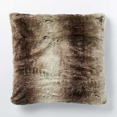 Faux Fur Ombre Pillow Cover - 24x24 - Insert Sold Separately - West Elm