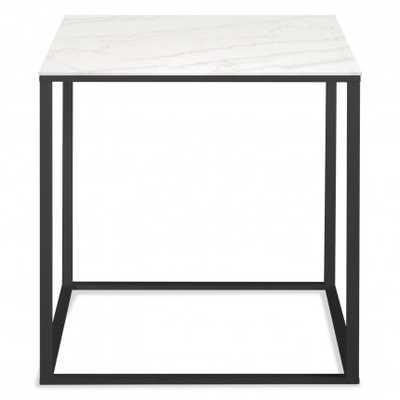 Minimalista Side Table - Black / Marble - BluDot
