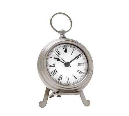 POCKET WATCH CLOCK - SMALL - PEWTER - Pottery Barn