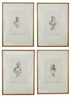 Classical French Engravings, S/4- 29''L x 21''H - Framed - One Kings Lane
