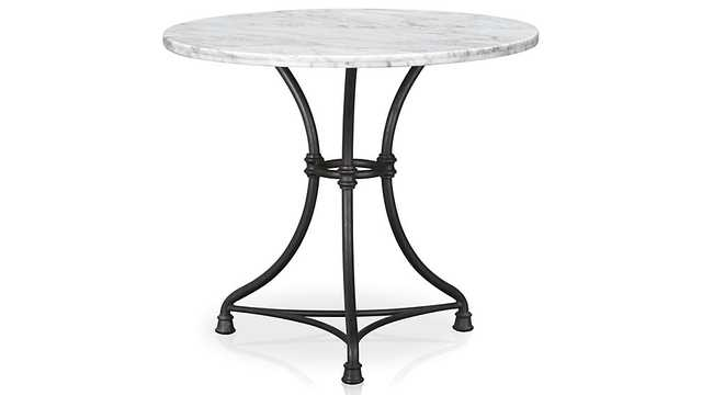 French Kitchen Round Bistro Table - Crate and Barrel